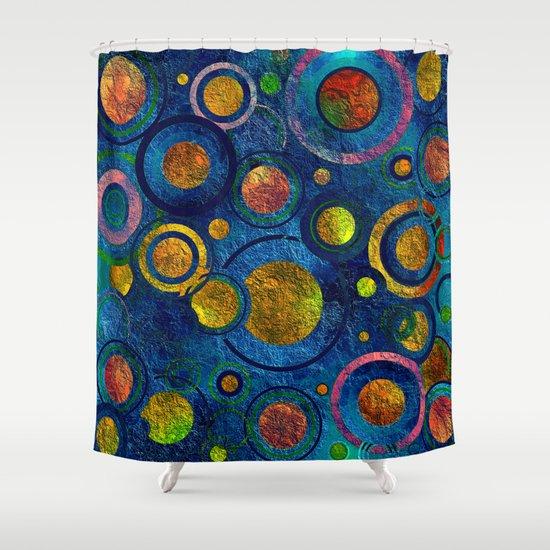 Full of Golden Dots - color variation Shower Curtain