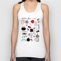 50s Tank Tops featuring Mushroom Berries Nuts and Fruits / Classic 50s pattern by In The Modern Era