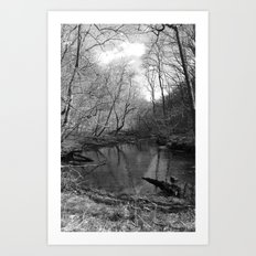 Remnants of a Waterfall  Art Print