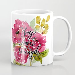 Joy of the Lord Watercolor Floral Coffee Mug