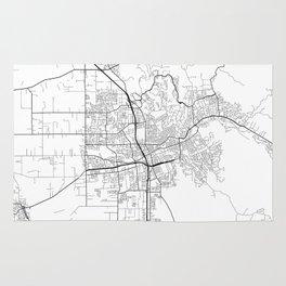 Minimal City Maps - Map Of Santa Rosa, California, United States Rug