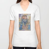 jack sparrow V-neck T-shirts featuring Jack Sparrow by Nicola Girello