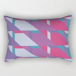Abstract Drama #society6 #violet #pattern Rectangular Pillow