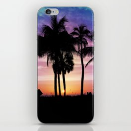 Hot Summer Nights In Palms iPhone Skin