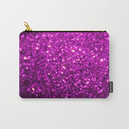 Sparkling Purple Glitter Carry-All Pouch
