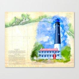 Vintage Florida Panhandle - Pensacola Lighthouse Canvas Print