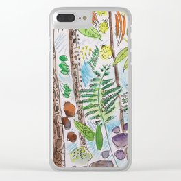 Woodland Life Clear iPhone Case