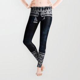 Arteresting V48 - Indigo Anthropologie Bohemien Traditional Moroccan Design Leggings