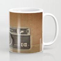 camera Mugs featuring CAMERA by Monika Strigel