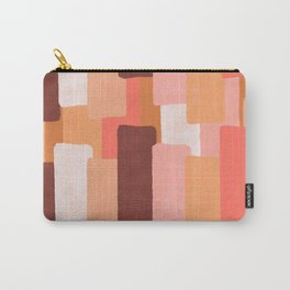 Line In Coral #society6 #abstractart Carry-All Pouch