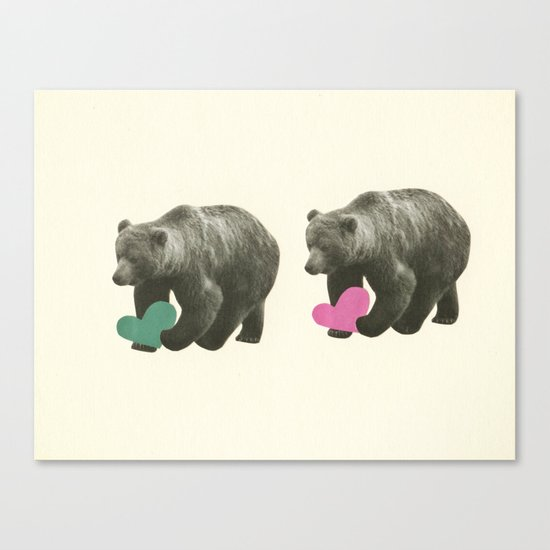 A Bear Romance Canvas Print