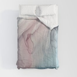 Calming Pastel Flow- Blush, grey and blue Comforters