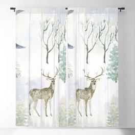 Winter Landscape Blackout Curtain