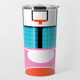 Ballin' - memphis retro neon trendy throwback sports basketball pop art Travel Mug