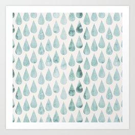 Drop water pattern Art Print