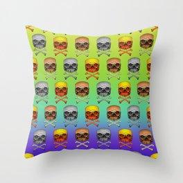 Burger X Bones Throw Pillow
