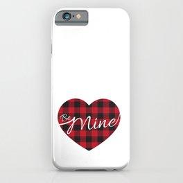 Buffalo plaid heart be mine  iPhone Case
