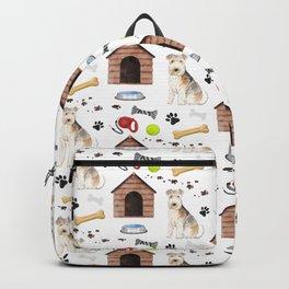 Lakeland Terrier Half Drop Repeat Pattern Backpack