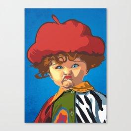 Scrunchy Face Kid Canvas Print