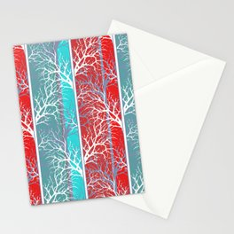 Red blue, abstract Stationery Cards