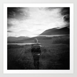 Visionary - Holga photograph in Scotland Art Print