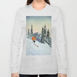 Skiing The Clear Leader Long Sleeve T-shirt