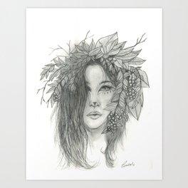 Brigid, Celtic Triple Goddess Art Print