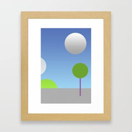 New moons Framed Art Print