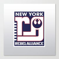 nfl Canvas Prints featuring NY Rebel Alliance - NFL by Steven Klock
