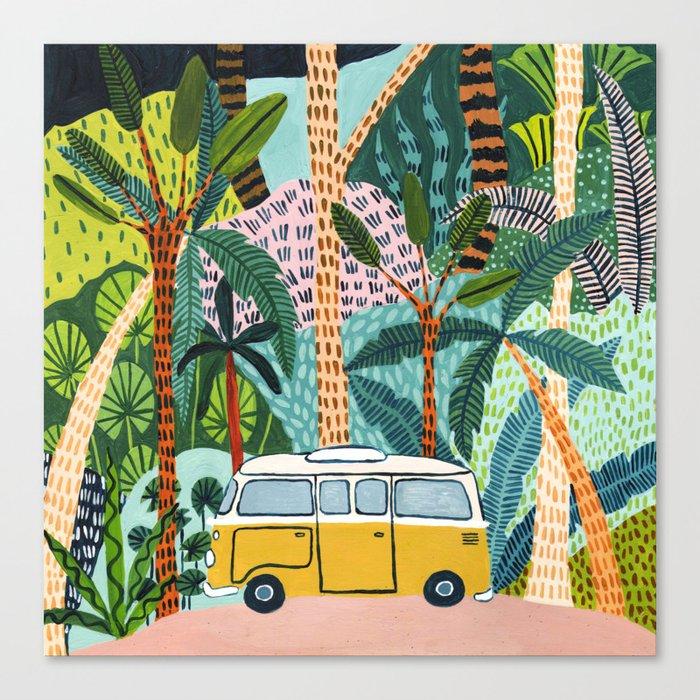 Jungle Camper Canvas Print