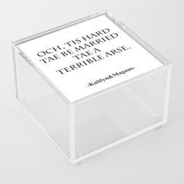 Terrible Arse Acrylic Box