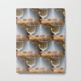 Magic of Ayers Rock makesh me shee multiple wine glasses... Metal Print