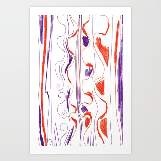 drawing Art Print