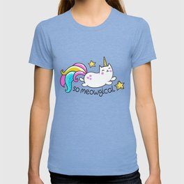 Kawaii Meowgical Glittery Unicorn cat T-shirt
