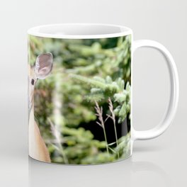 Watercolor Deer, Eastern Whitetail 01, Cape Breton, Canada, The Tail Flick Coffee Mug