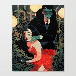 encounter in the garden Canvas Print