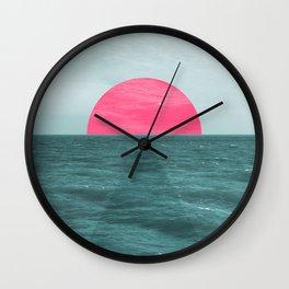Magenta Sunset Wall Clock