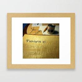 Glagolitic in Progress Framed Art Print