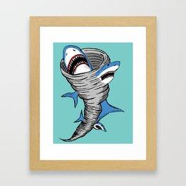 Shark Tornado Framed Art Print