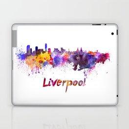 Liverpool skyline in watercolor Laptop & iPad Skin