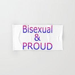 Bisexual and Proud (white bg) Hand & Bath Towel