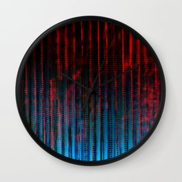 Syntax (Red + Blue) Wall Clock