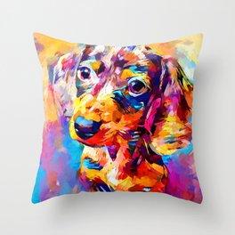 Mini Dachshund Throw Pillow