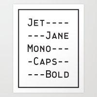 font Art Prints featuring This Font by Matt Hunsberger
