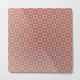 Coral Geometric Pattern #1 Metal Print