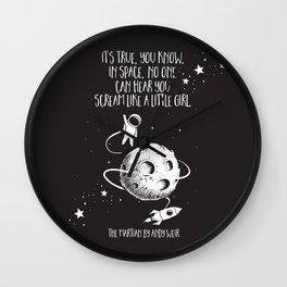 Martian - Scream Like a Little Girl Wall Clock