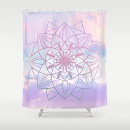 Star Mandala Unicorn Pastel Clouds #1 #decor #art #society6 Shower Curtain