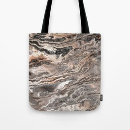 Brown Marble Texture Tote Bag