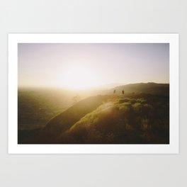 Angels National Forest, sunset no.2 Art Print