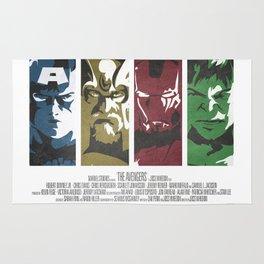 Vintage Avengers Film Poster Rug